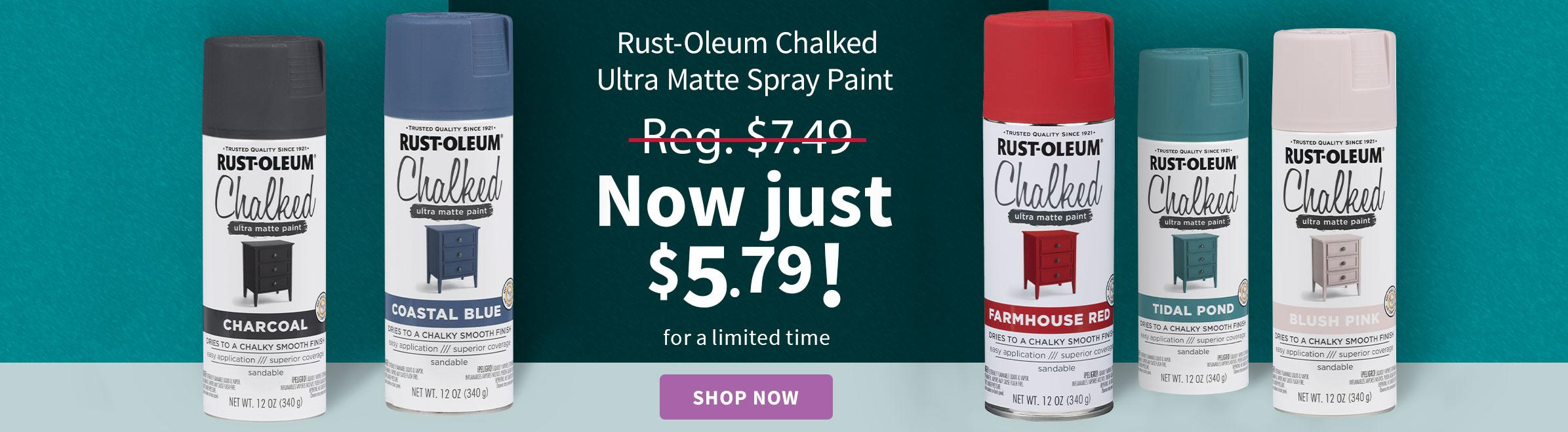 Rust-Oleum 12 Oz. Chalked Ultra Matte Spray Paint
