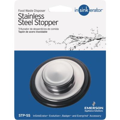 Insinkerator 3-3/8 In. Stainless Steel Stainless Steel Disposal Stopper